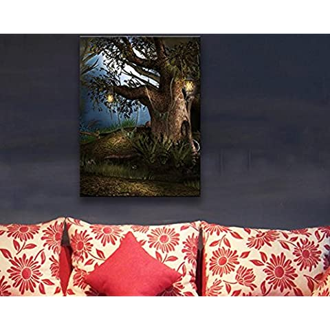 XYXY LED Simple fantasía moderna paisaje pintura decorativa colgante pinturas para el hogar . b . 40*60