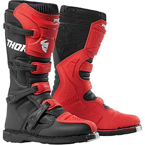 Thor Blitz XP Boots Stiefel Enduro Motocross MX rot schwarz 2019, Größe: Größe 8 (EU 42)