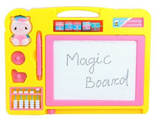 Vibgyor Vibes™ 2 In 1 Double Sided Magnetic Slate whiteboard And Blackboard With Chalk,Duster And Stylus For Boys And Girls.Multi Colours  available at amazon for Rs.299