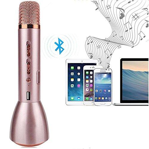 E. vida K088portátil Mini altavoz inalámbrico Bluetooth micrófono Karaoke Magic mano KTV Magic 2017reproductor Compatible con iphone, ipad, teléfono Android, Tablets Android, PC, ordenador portátil para Canto, escuchar música, canto Record, entrevistas y Podcasting