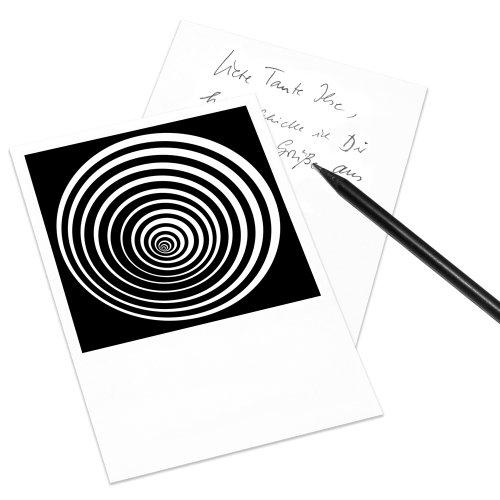 Postkarte Op-Art im Polaroid-Look - DIN A6 Hochformat - Motiv: Kreis 7b