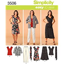 Simplicity 3506 AA - Patrones de costura para ropa de mujer (tallas grandes)