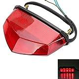 OSAN Motorrad 10-LED UNIVERSAL Rücklicht Bremslicht Kennzeichnenleucht (Rot)