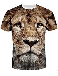 Rejoicing - Camisetas de algodón con diseño de Cabeza de león en 3D para  Hombre 6a00e9c6902d8