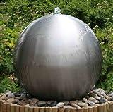 45cm Kugelbrunnen aus gebürstetem Edelstahl mit LED-Beleuchtung