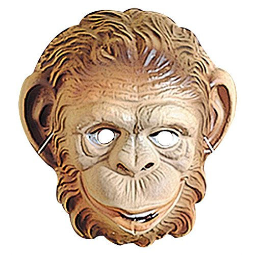 nmaske Affen Maske braun Affe Maske Affemaske Tiermaske Kostüm Zubehör Fasching Kindermaske ()