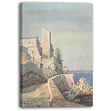 Henry Victor Burgy - Antibes (1882), 70 x 100 cm (plusieurs dimensions disponibles), Impression sur toile encadrée sur cadre en bois véritable et prêt à accrocher. Impression à haute qualité fait-main.