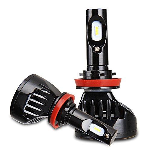 Preisvergleich Produktbild Easy Eagle H11 LED Auto Scheinwerfer Birnen Licht Umbausatz 80W 9600LM (40W 4800Lm pro Birne) mit Korea Seoul Chip Super Helle Kalte Weiße Lampe