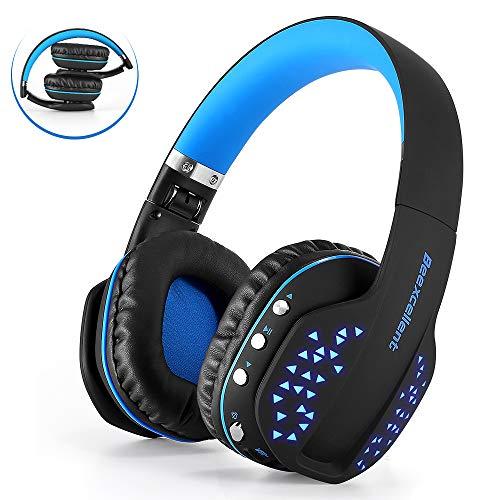 Beexcellent Casque Bluetooth sans Fil Pliable Casque Audio Micro Intégré Appels Mains Libres Filaire avec Câble Audio Écouteurs Son Hi-FI Qualité pour Téléphone Tablettes PC