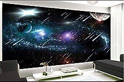 Deckentapete Das Universum Wandbild Von Meteoriten Für Wohnzimmer Schlafzimmer Deckenwand fototapete 3d Tapete effekt Vlies wandbild Schlafzimmer-250cm×170cm