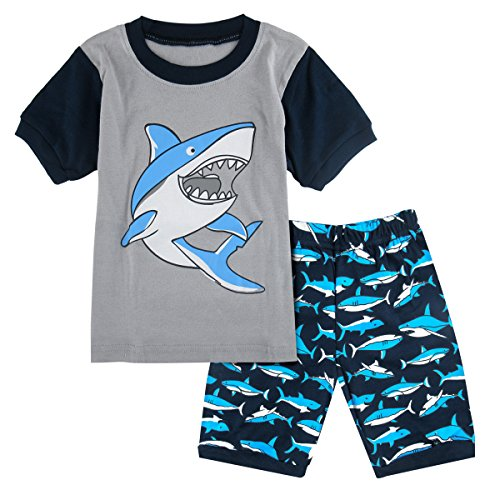 Mombebe Jungen Schlafanzug Dinosaurier Pyjamas Set Kurzarm Sommer -