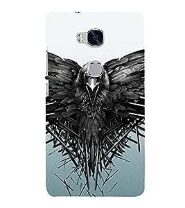 PrintVisa Flying Bird Sky 3D Hard Polycarbonate Designer Back Case Cover for Huawei Honor 5X :: Huawei Honor X5 :: Huawei Honor GR5