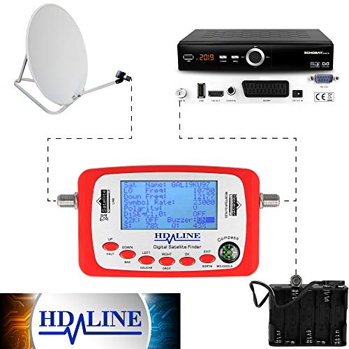 HD LINE SF-500 Digital Satellite Satfinder / Sat Finder Sky Misuratore di Campo Satellitare Rilevatore Segnale Satellitare / Satellite Finder Freesat v8 Finder Satellitare Puntatore Parabola