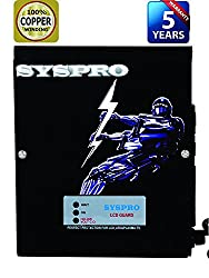 SYSPRO Turbo Plus Voltage Stabilizer for LED Upto 75 inch with 5 Years Warranty (100% Copper)