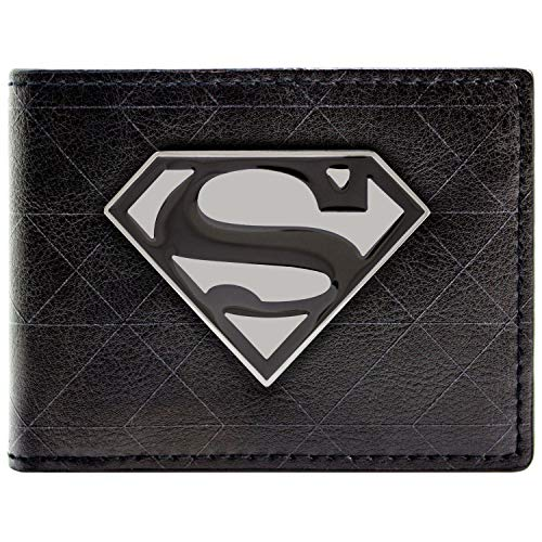 DC Comics Superman Symbol-Abzeichen Schwarz Portemonnaie ()