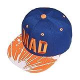 Bonjouree Casquette De Baseball Broderie De Lettre Chapeaux De La Mode Pour Enfants Garçons Filles (Bleu Foncé)