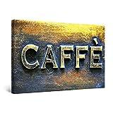 Startonight Bilder Kaffee-Zeichen, Leinwandbilder Moderne Kunst, Abstrakte Wanddeko Kunstdrucke, Wandbilder 60 x 90 cm, Tag Nacht Bild
