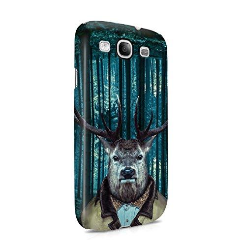 Gentleman Classy Handsome Deer Elk In Forest Dünne Rückschale aus Hartplastik für Samsung Galaxy S3 Handy Hülle Schutzhülle Slim Fit Case Cover - Deer Galaxy Samsung S3 Handy Case
