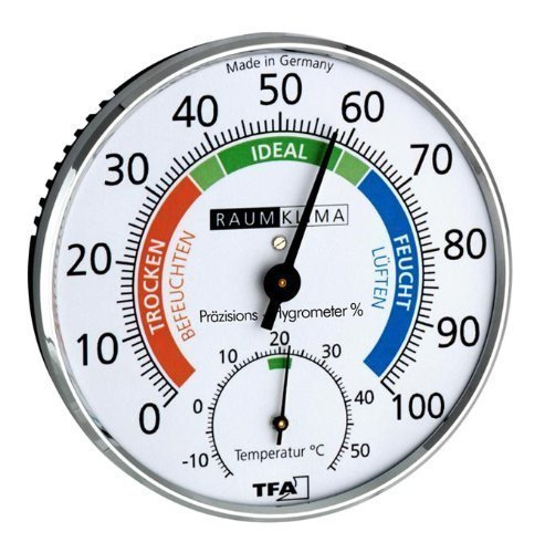 TFA Dostmann Igrometro di precisione Klimatest, cromato