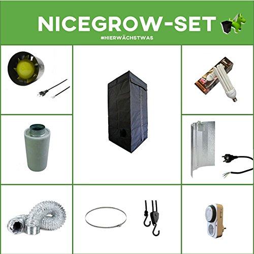 Growset 60 Dark Box ESL 120W Wuchs und Bl/üte Komplettset Set Grow ESL