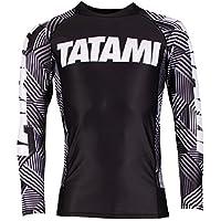 Tatami Rashguard Essential Geo–Rash Guard BJJ MMA Grappling Funktions Camiseta Top de Compresión para Hombre, Color Negro, Tamaño Extra-Large