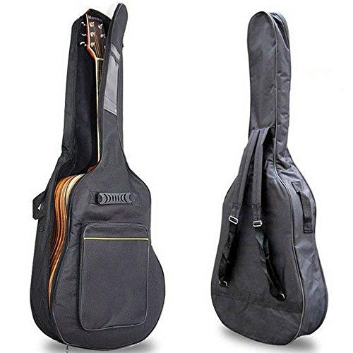 Groß Voll Größe Gitarre Tasche Gepolstert Schutz Wasserdicht Doppelt Riemen Schwarz Leicht Gitarre Fall