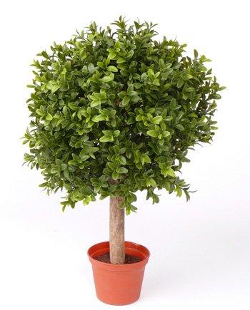 artplants Set 2 x Künstliche Buchskugel Tom auf Stamm, 250 Blätter, 35cm, Ø 25cm - künstliche Buchsbaumkugel Buxkugel Buchsbaum