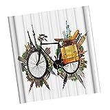 Baoblaze Badezimmer Duschvorhang Badvorhang mit Haken 180 x 180cm - Fahrrad