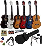 Pack chitarra classica 4/4(adulto) 7/83/41/21/4(Bambini) + 8accessori ~ NUOVA & garanzia 4/4 Nero