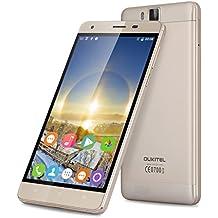 "Oukitel K6000 Pro 4G Lte - 5.5"" Smartphone Libre Android 6.0 (FHD Pantalla, Octa Core, 3Gb Ram 32Gb Rom, Dual Sim, Camara 13Mp, Huella Dactilar, Carga Rapida) (Dorado)"
