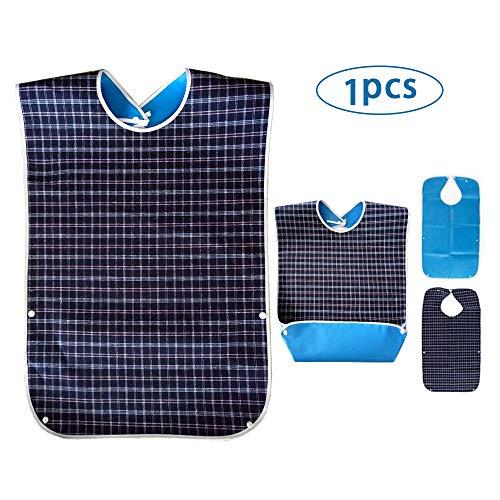 Wasserdichte Lätzchen für Erwachsene - Waschbarer Lätzchen Erwachsene, Latz für Erwachsene, Sabberlätzchen Kleiderschutz für Männer, Frauen, ältere Menschen und Behinderte
