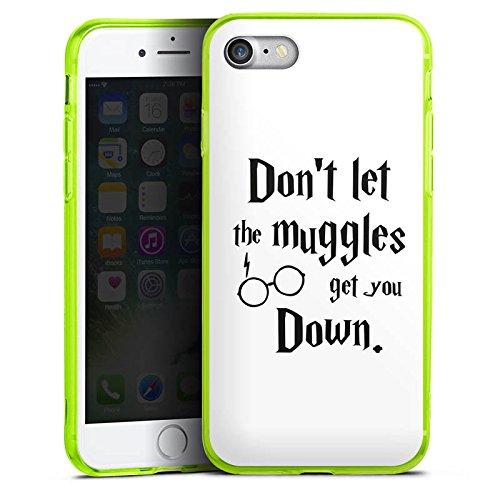 Apple iPhone 7 Silikon Hülle Case Schutzhülle Muggles Statement Harry Potter Silikon Colour Case neon-grün
