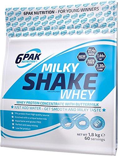 6Pak Nutrition Milky Shake Whey Chocolate, 1er Pack (1 x 1.8 kg)