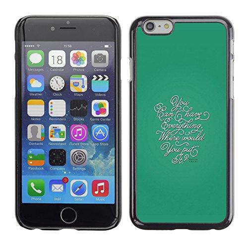 Graphic4You Dont Settle Love Englisch Zitat Nachricht Harte Hülle Case Tasche Schutzhülle für Apple iPhone 6 / 6S Design #8