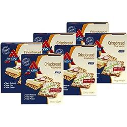 "Atkins Low Carb Knäckebrot""Crispbread"" (20 Scheiben), 6er Pack (6 x 100 g)"