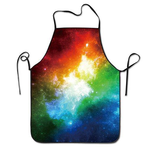 BRIGHT Herren & Frauen Colorful Galaxy Solar System Chef & Cook Küche Lätzchen Schürze Wasserdicht ideal für Backen, Kochen, Basteln, BBQ