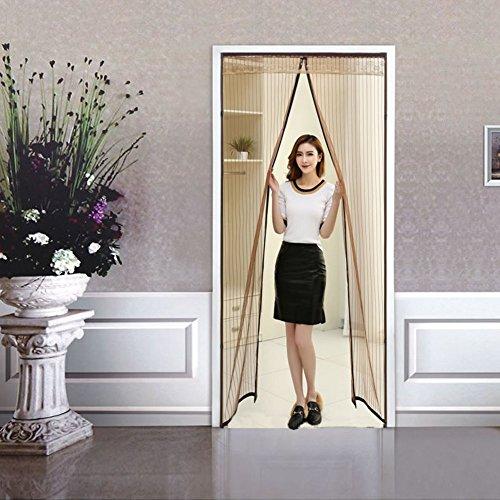 Sommer Der moskito Magnetisch Türen für häuser bildschirm,Hohe denisity Türen mit magneten bildschirm Koreanische version Velcro magnetische tür siebgewebe-A 100x260cm(39x102inch)