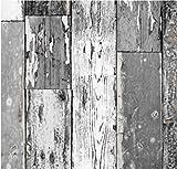i.stHOME Klebefolie Scrapwood Dunkel Grau 90x200 cm Möbelfolie Selbstklebend Altes Holz rustikal - Dekorfolie - Selbstklebefolie Bastelfolie - Selbstklebende Folie