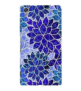 PrintVisa Modern Art Leaf Pattern 3D Hard Polycarbonate Designer Back Case Cover for Sony Xperia C6