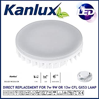 Robus RGX539WL IP44 9watts Ceiling or Wall Light 9w GX53 CFL Lamp Exterior Bulkhead (GLS equivalent = 40w) LOW ENERGY SAVING GX53 Metal External Outdoor Garden Security Round Circular Bulkhead Aluminium Vandal Resistant Driveway Stairs Steps Stairwell - Home, Office, Work, Business, etc