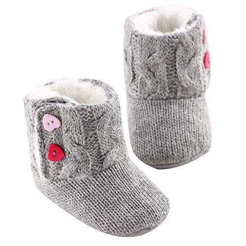 Culater® Scarpe neonate Sole Presepe pulsante Warm Appartamenti Cotton Boot Toddler (11)