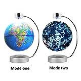 6'' LED Magnet Globus, Magnetische Kugel Der Levitation, Magnetschwebebahn Floating Globe World - Antigravity Globe für pädagogische Geschenk Demonstration Lehre Dekoration Büro (Blau)