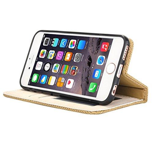 Phone case & Hülle Für iPhone 6 Plus / 6s Plus, Business Notebook Style Hit Farbe Horizontale Flip Leder Tasche mit Halter & Card Slots & Wallet & Photo Frame ( Color : Grey ) Yellow