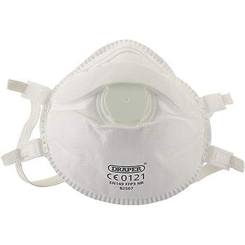 82486 Genuine DRAPER FFP2 NR Moulded Dust Masks Pack of 3
