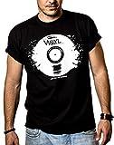 Camisetas Musica Hombre - Vintage Vinyl Dj - Negra XL