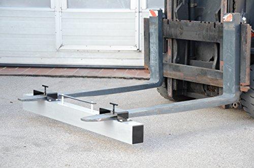 Preisvergleich Produktbild Magnetbesen für Stapler aus Edelstahl , Magnetheber, Staplermagnetbesen, 1220 mm