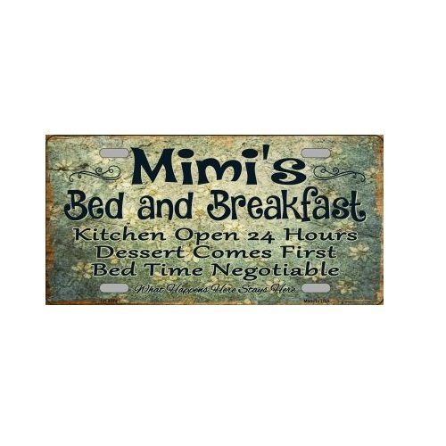 Cara King Mimi's Bed and Breakfast Novelty License Plate Tag Sign