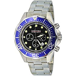 Nautec No Limit Gents Watch Deep Sea Chronograph XL Bravo Quartz Stainless Steel DS-B / STSTBLBK QZ2