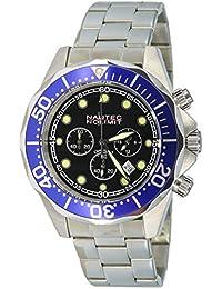 Nautec No Limit Herren-Armbanduhr XL Deep Sea Bravo Chronograph Quarz Edelstahl DS-B QZ2/STSTBLBK