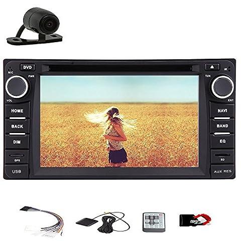 GPS-Navi-Autoradio-Empfänger-Monitor Bluetooth-Steuergerät Car Stereo Für Toyota Corolla EX VIOS RAV4 2004-2013 USB SD Auto-DVD-Player Video FM AM Autoradio Audio Digitale iPod HD CAM